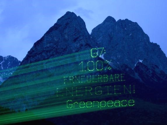 germany greenpeace lasers g7