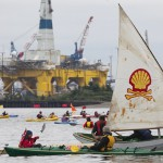 Protesters Royal Dutch Shell drilling Seattle