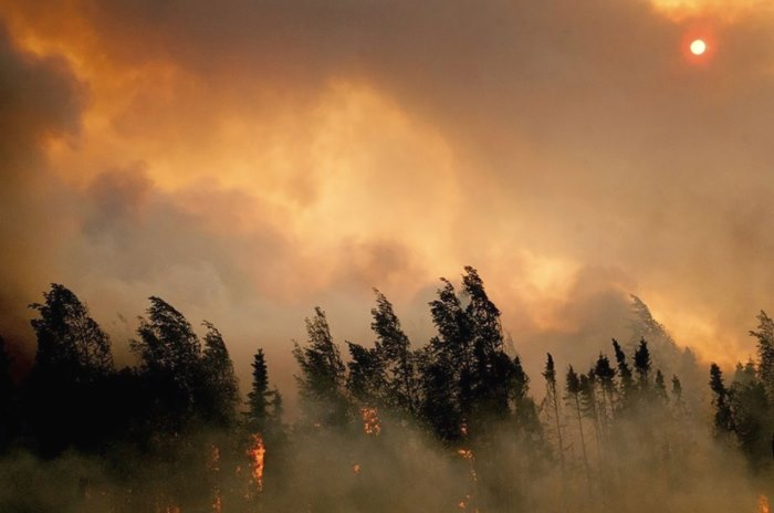 smoke wildfire Alaskan sun Canada