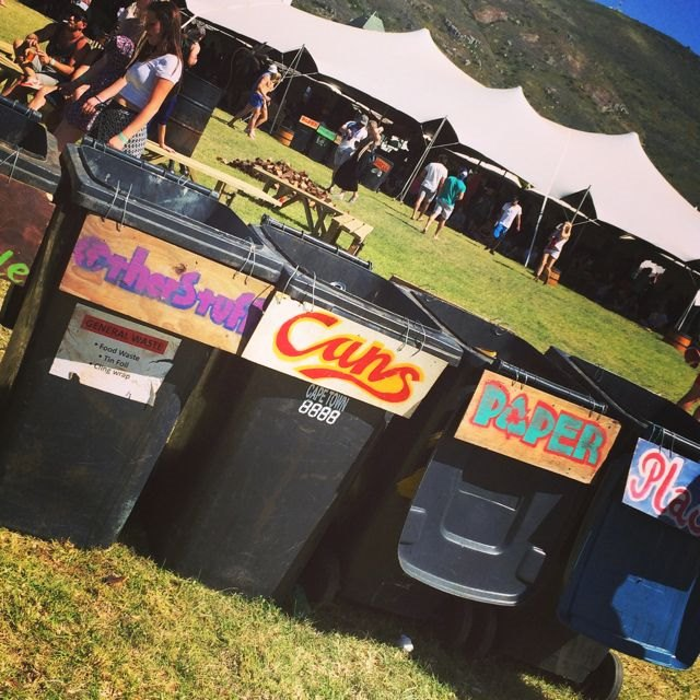 Rocking The Daisies 2014 recycling bins