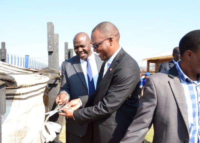 school recycling petco competition Mayor Masina & Mr Sishibe Opening Station