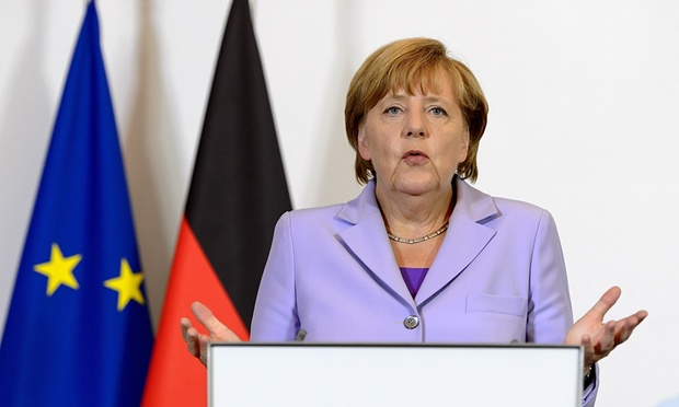 German chancellor Angela Merkel refugees