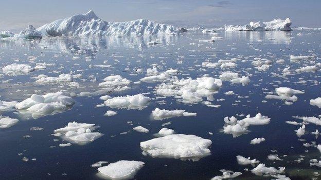 climate change antarctic melting ice