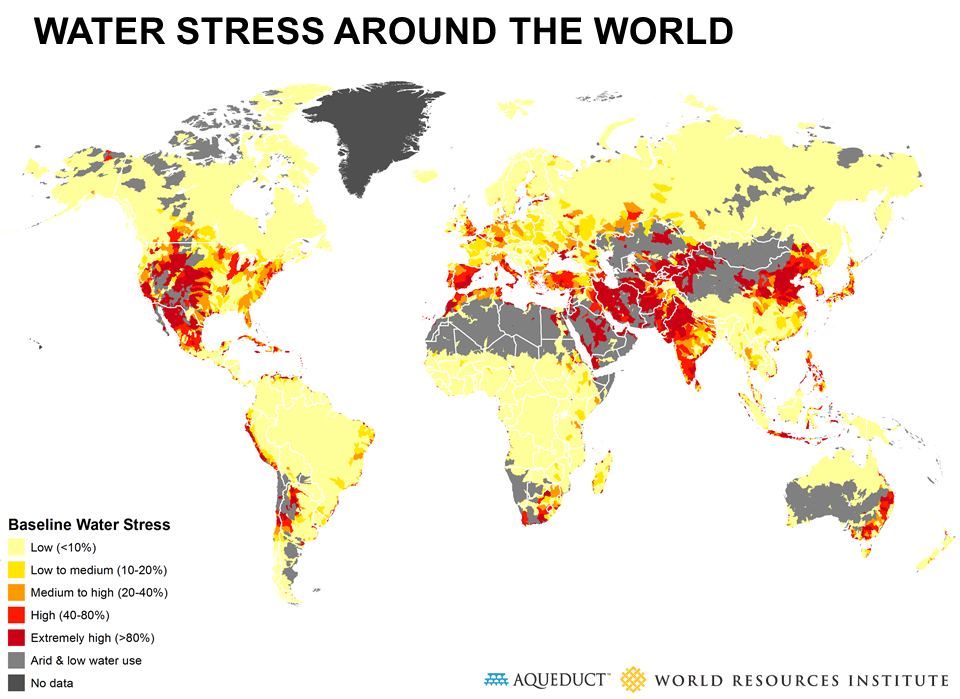 global water stress draught climate change
