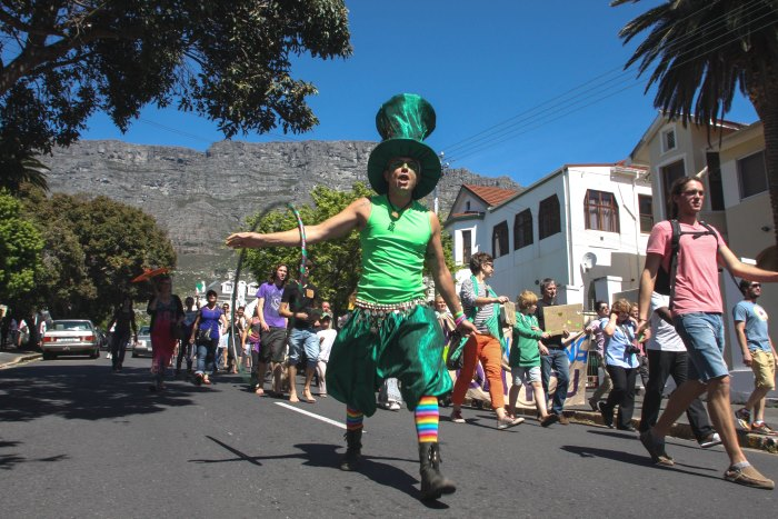 Climate march Cape Town Avaaz Kevin Pieterson1