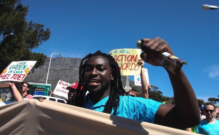 Climate march Cape Town Avaaz Kevin Pieterson4