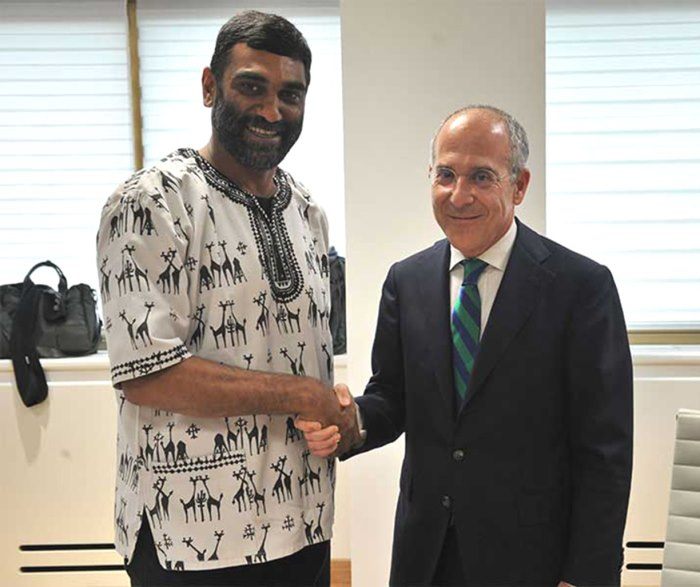 Kumi Naidoo and Francesco Starace Greenpeace Italy