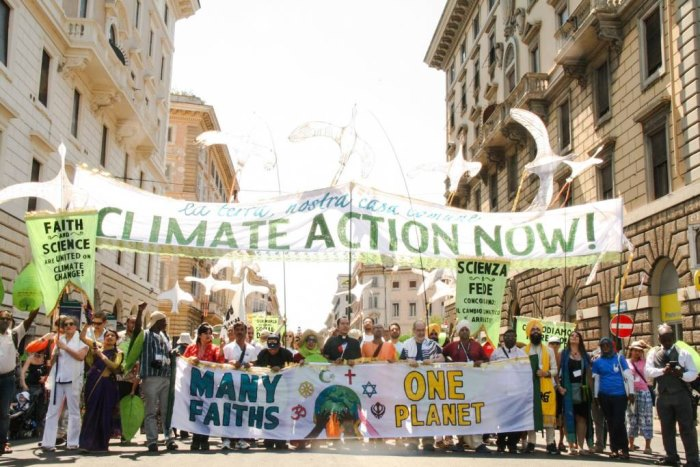 Multi-faith encyclical climate action march Rome 2015