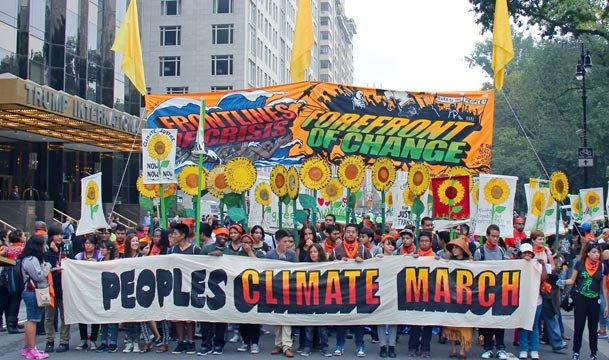 new york global climate march 350 green times