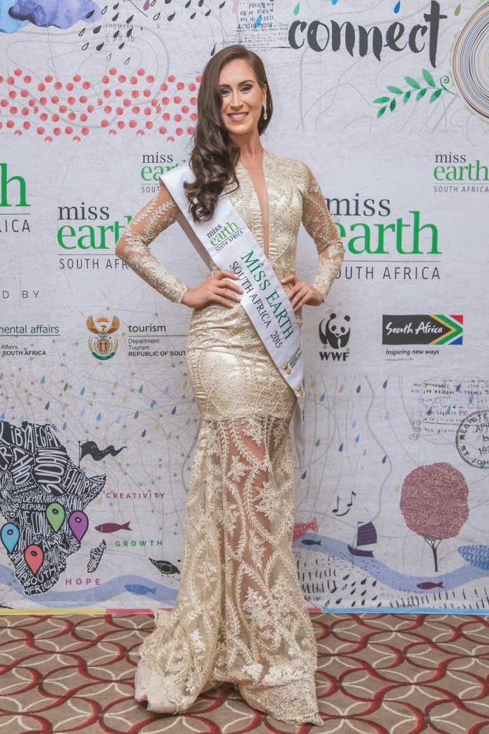 Miss Earth South Africa 2015, Evening Wear by Vohni Muthubi.