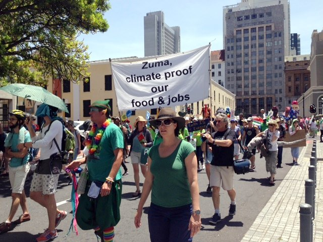global climate march cape town cop21 -1