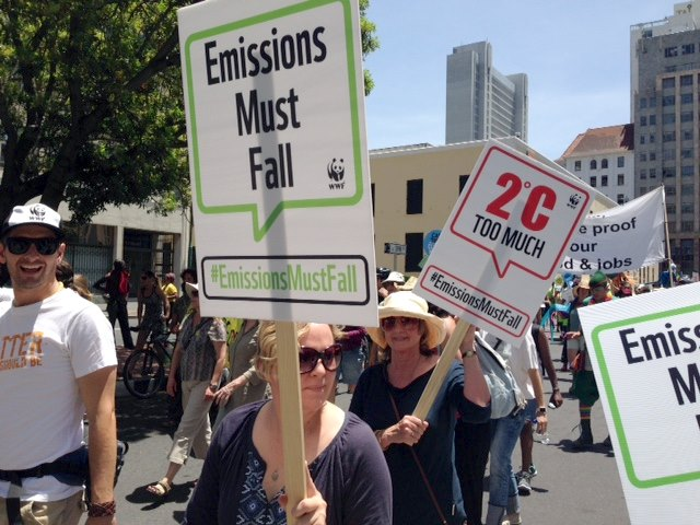global climate march cape town cop21 -4