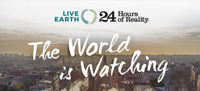 live earth 24 hours reality world watching paris cop21