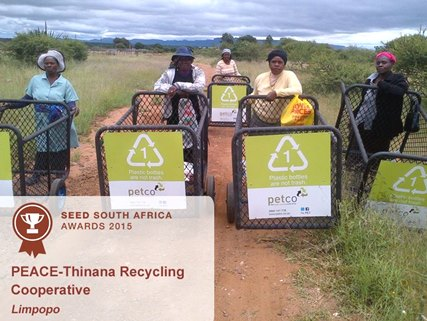 petco seed awards 2013 peace thinana recycling limpopo