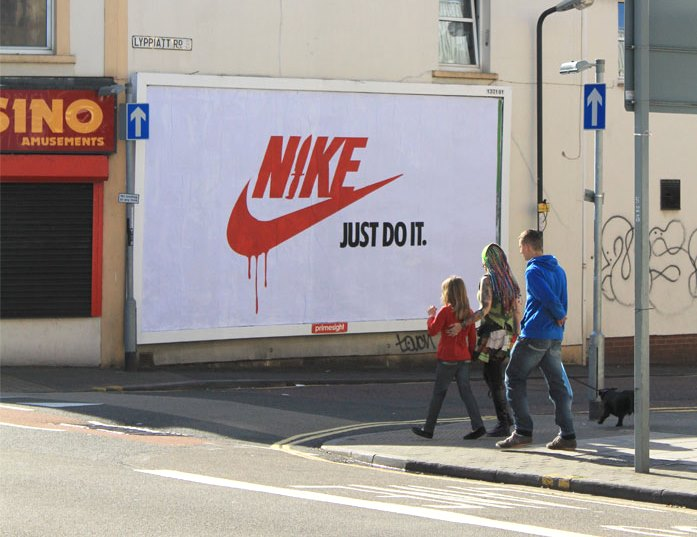 paris advertising climate change subvertisements nike