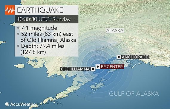 alaska earthquake power cut tsunami anchorage
