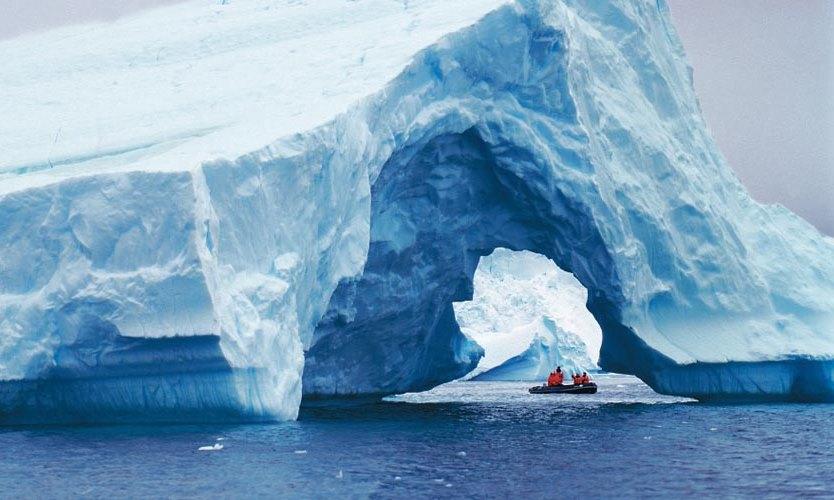 Guests exploring by Zodiac Antarctica,