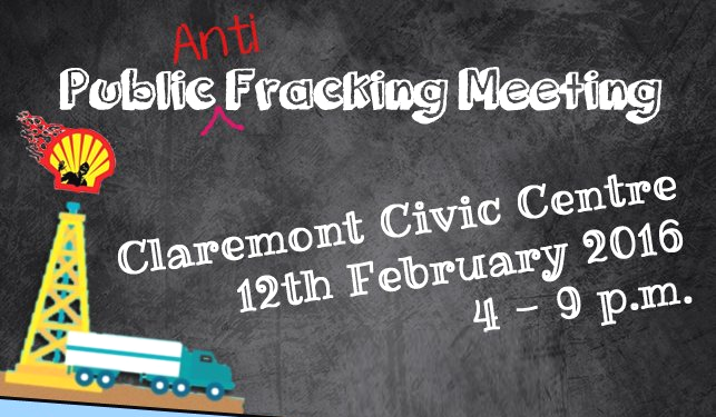anti fracking meeting claremont cape town