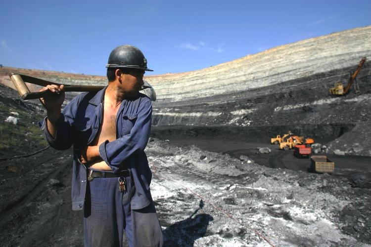 coal miner open pit chifeng china getty