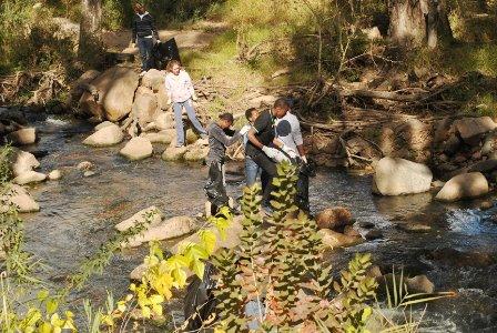 green beings Klein Jukskei Spruit river cleanup