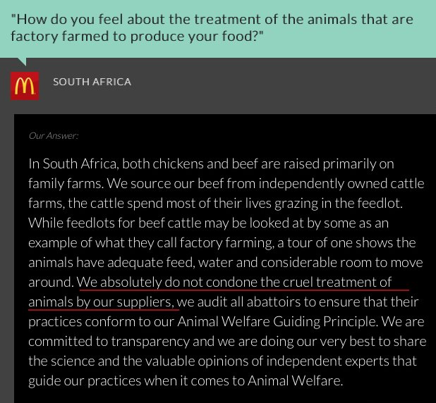 McDonalds SA Cage-Free cruelty battery eggs chickens