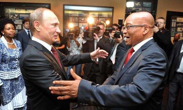 SA President Jacob Zuma with Russian President Vladimir Putin.