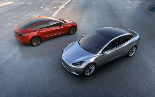Tesla model 3 electric car elon musk green times