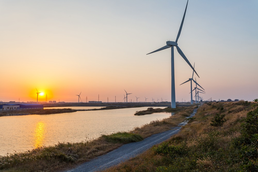 coastal wind turbine china coal consumption clean energy investment