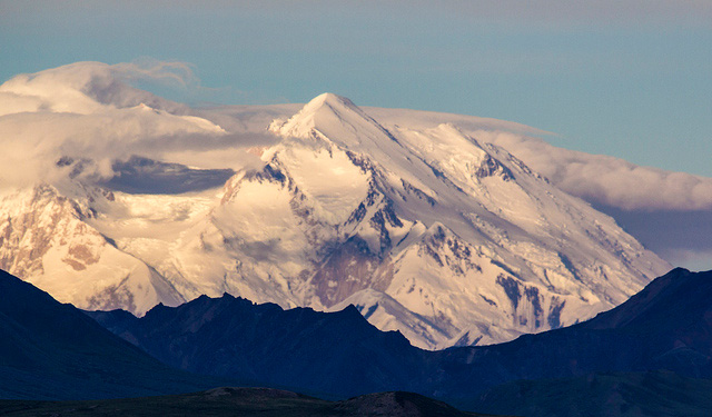 denali alaska mountain peak north america ice melt rocks climate change