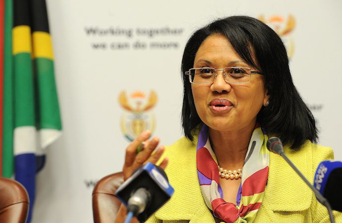 Energy Minister Tina Joemat-Pettersson