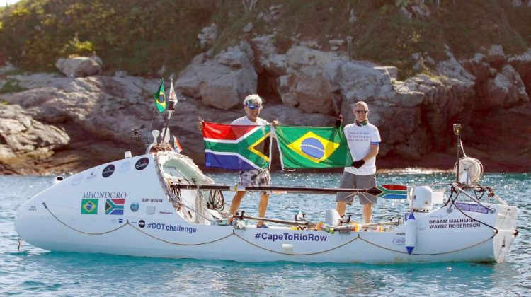 Duo welcomed home in Cape Town after rowing to raise awareness