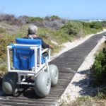 Disabled Gansbaai residents receive PVC beach wheelchairs