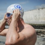 Lewis Pugh swimming the English Channel to promote ocean conservation