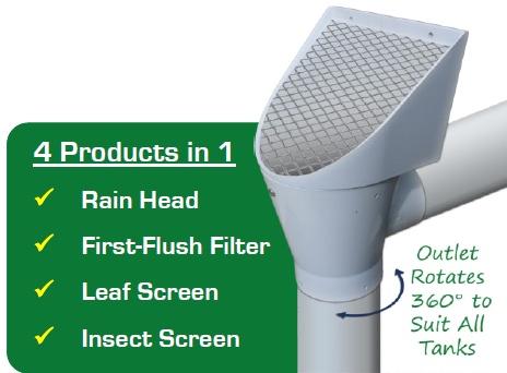 superhead rainwater tank filter