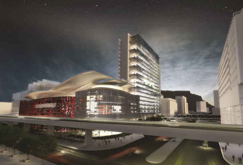 CTICC Expansion - View from Table Bay