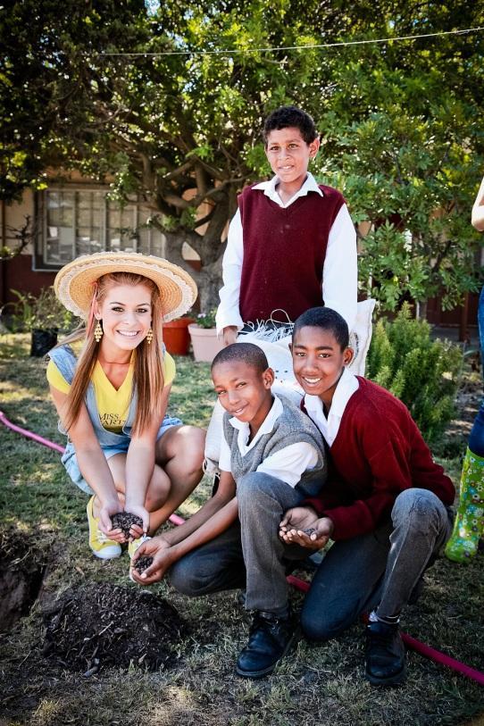 Miss Earth 3 Tree Planting at Kalksteenfontein Primary School