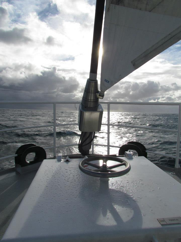 Rainbow Warrior - view from the bow