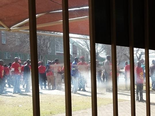 Numsa strike violence Plastics SA