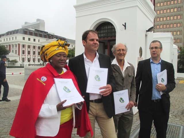 Phephsile Maseko, Toren Wing, Bernard Brom and Anthony Rees, all THNA Exco members.