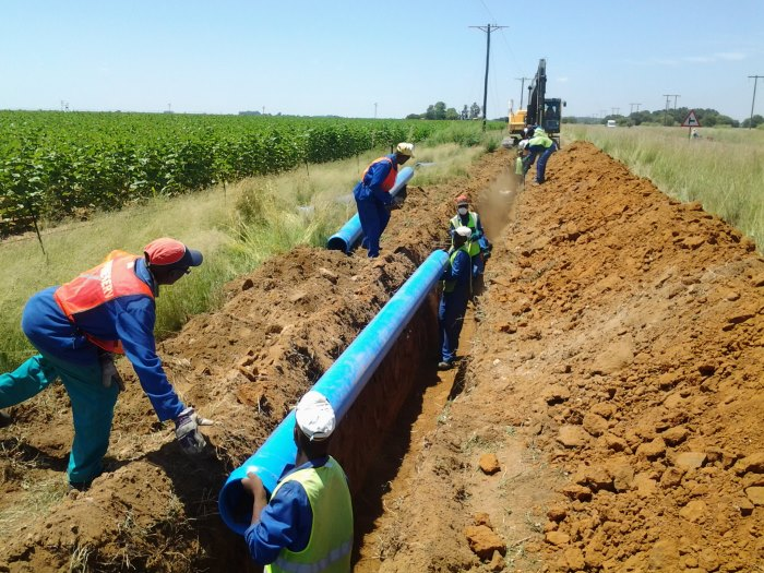 pipes laid SAPPMA water supply risk