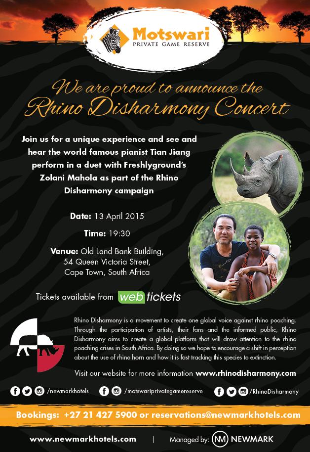 rhino poaching disharmony concert