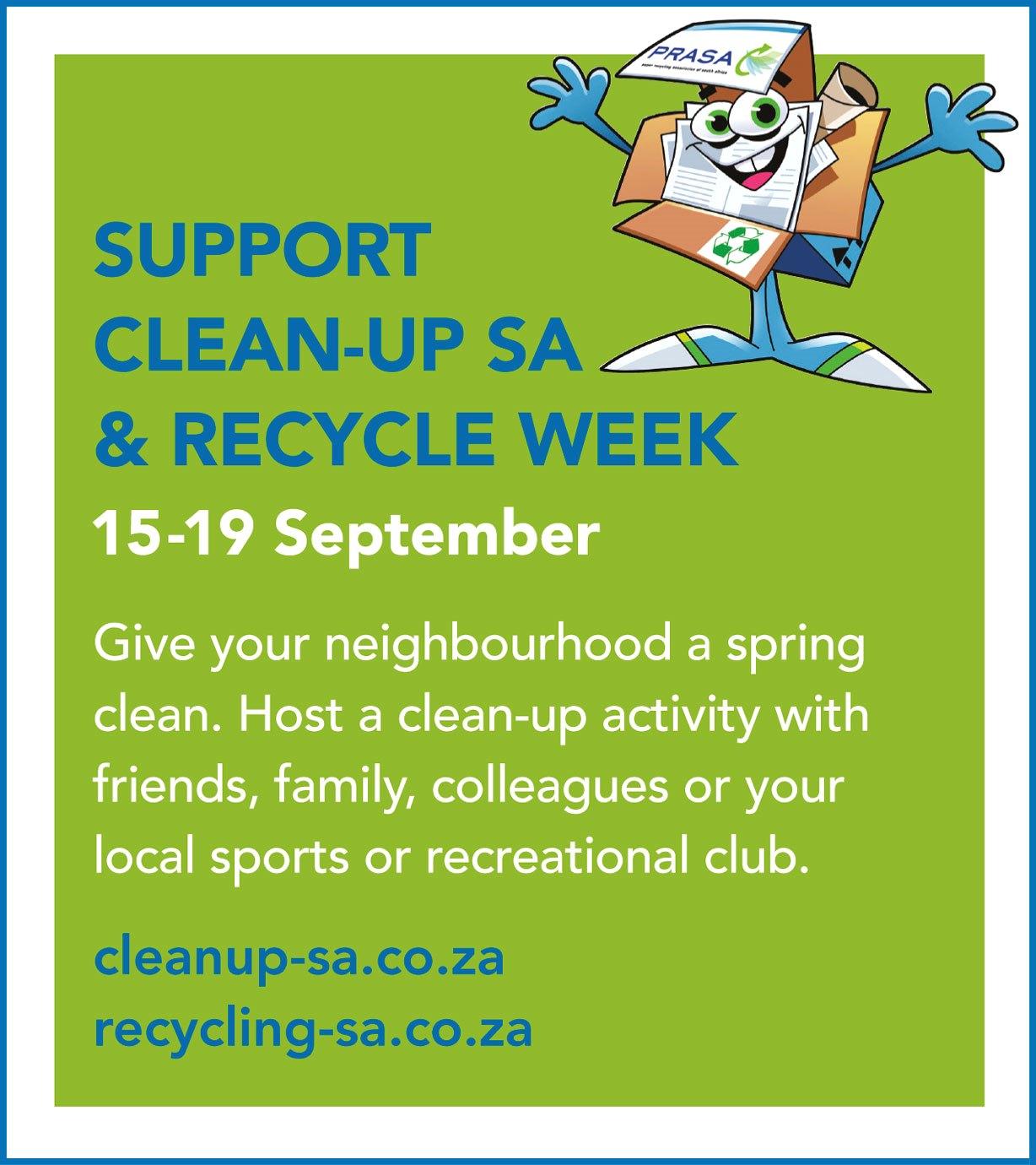 Clean-Up & Recycle Week SA Plastics