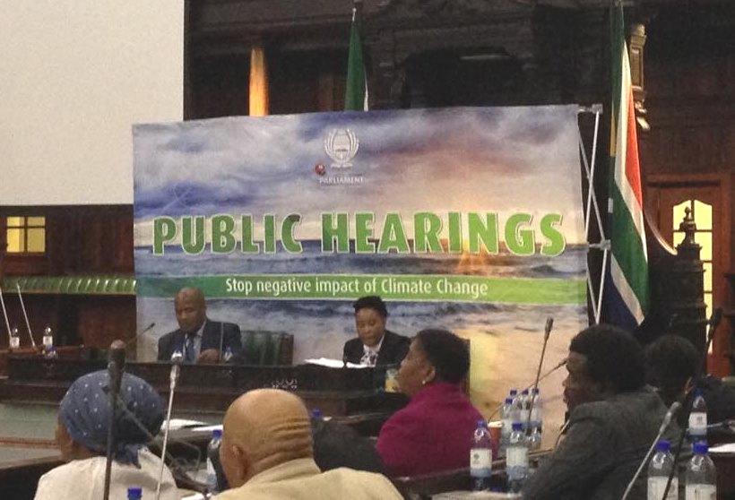SA parliament hearings climate change