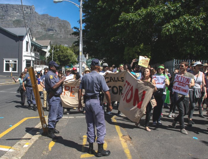 Climate march Cape Town Avaaz Kevin Pieterson2