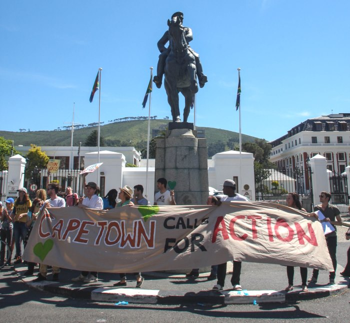 Climate march Cape Town Avaaz Kevin Pieterson3