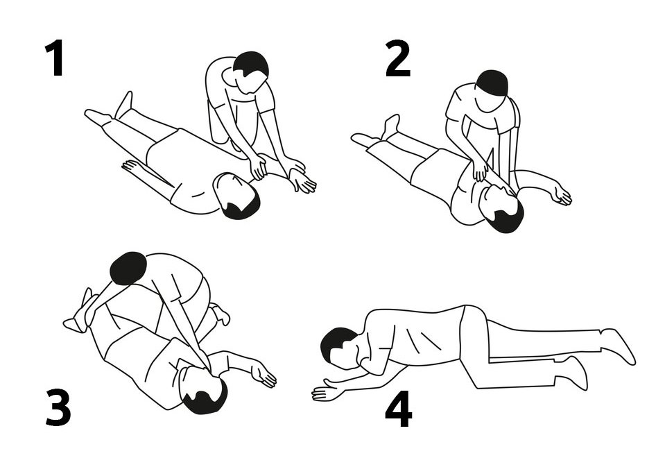 first aid heat stroke recovery position