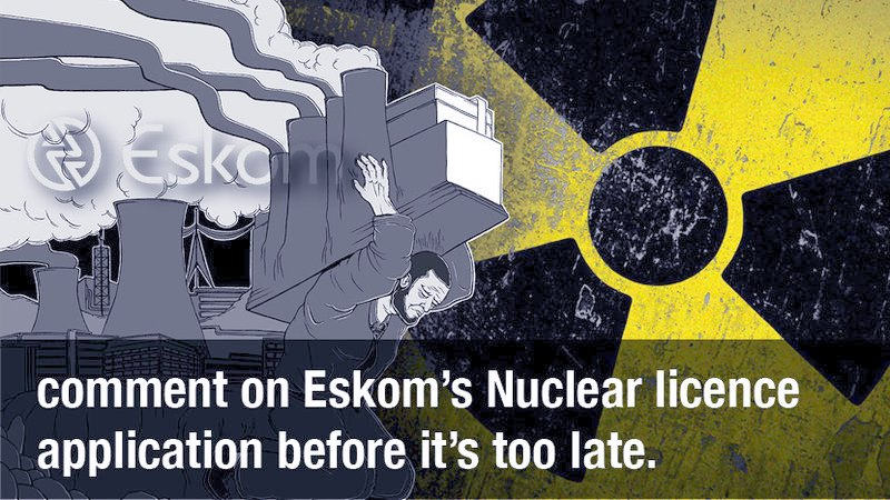 eskom nuclear licence application comment